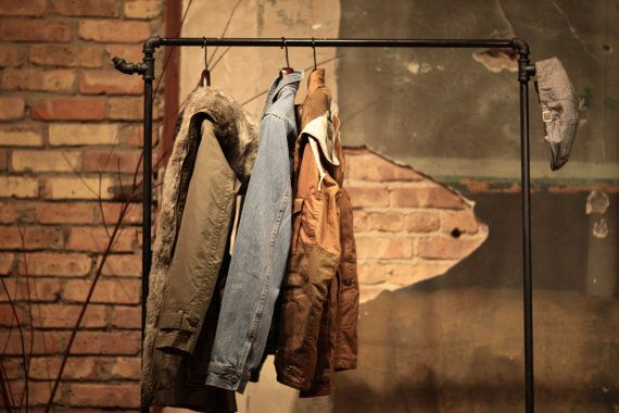 Industrial Reclaimed Wood and Pipe Coat Rack on Etsy, $303.81 CAD
