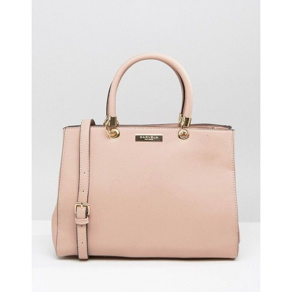 Carvela Tote Bag (4.470 RUB) ❤ liked on Polyvore featuring bags, handbags, tote bags, pink, shoulder strap handbags, tote handbags, zip top tote, zip top tote bag and pink tote purse