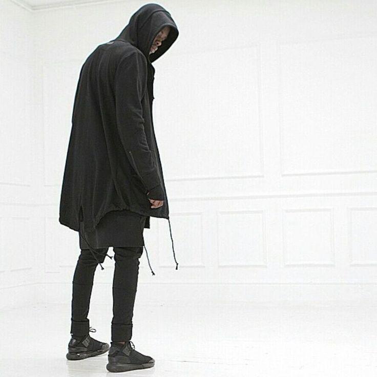 2016 new men's long hooded sweater cardigan cloak cape coat-淘宝网全球站