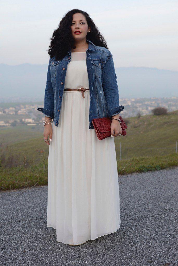 look casual long dress denim jacket