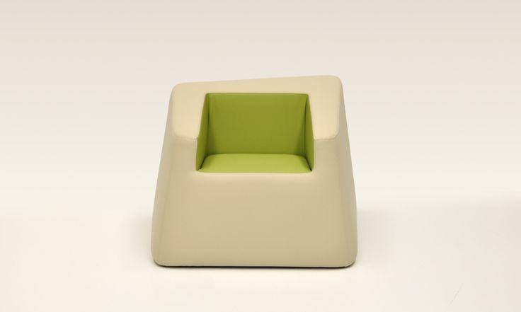 "Bon Bon armchair in the colours of nature and flowers, to match the ""naturalmentechic"" module for hospitality. Design: Daniele Menichini"