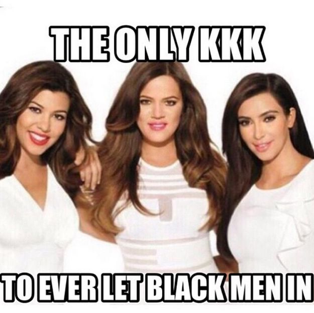 """Last night, Khloe Kardashian shared this meme, showing her with sisters Kim and Kourtney, on Instagram. She posted it alongside the caption: """"True"""". 