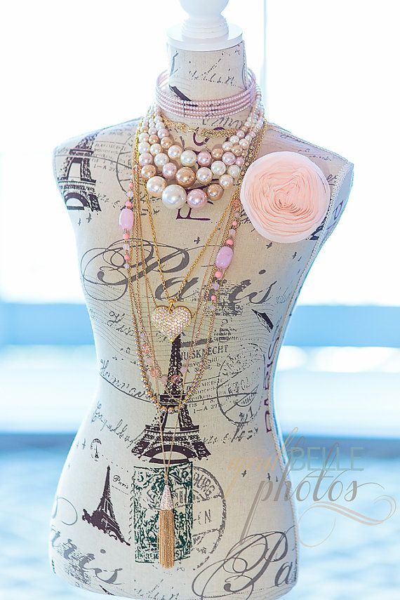 Large Paris Mannequin with Jewelry by DesignStudiOhh on Etsy, $200.00