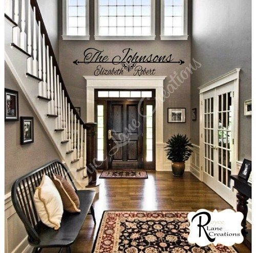 Traditional Foyer Names : Personalized family name decal for foyer entryway