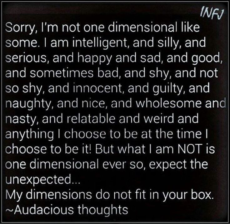INFJ ... couldn't have said it better.
