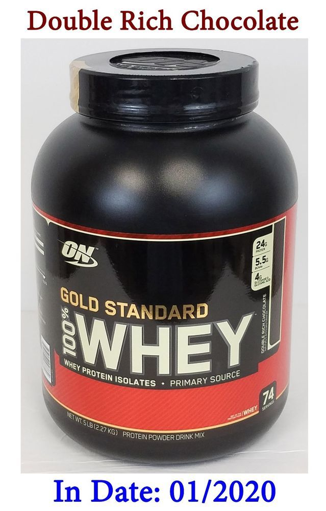 On Gold Standard 100 Whey Protein Isolates Double Rich Chocolate 5 Lb Exp 01 20 Optimumnutritionon Gold Standard Whey Protein Whey Protein 100 Whey Protein