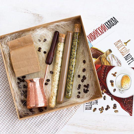 Набор подарочный 'Секрет кофе', турка, специи, рецепты