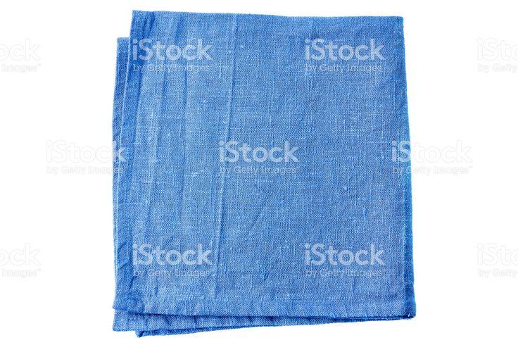 Blue fabric napkin on white royalty-free stock photo