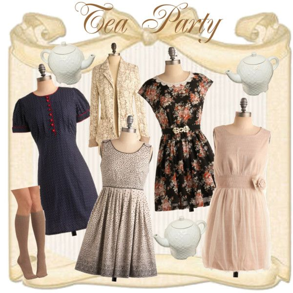 victoria style tea party dress with hat google search dress up for afternoon tea party. Black Bedroom Furniture Sets. Home Design Ideas