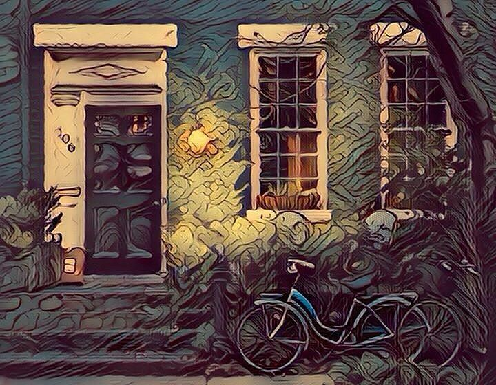 Bicycles in front of old house (Fauvism style). Bicicletas frente a casa antigua (estilo Fauvismo). #fauvism #fauvismo #bicleta #bicycle #bicycles #casa #casas #house #houses #casasantigua #casaantiguas #oldhouse #oldhouses #vintage #vintages #art #arts #arte #artes #painting #paintings #paintwork #paintworks #picture #pictures #pintura #pinturas