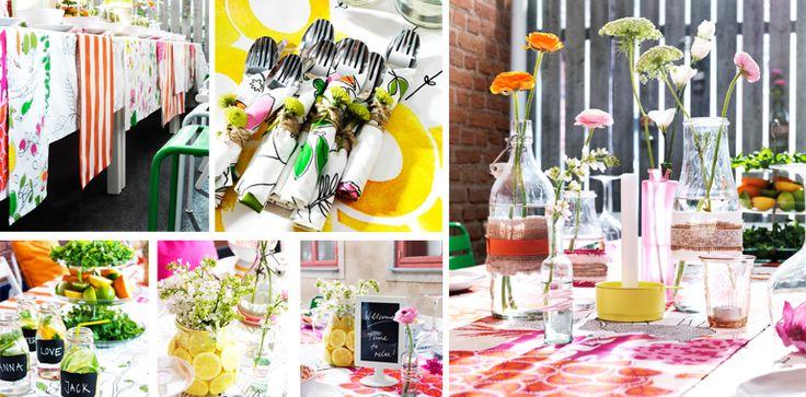 Bunte Tischdeko fürs Sommerfest