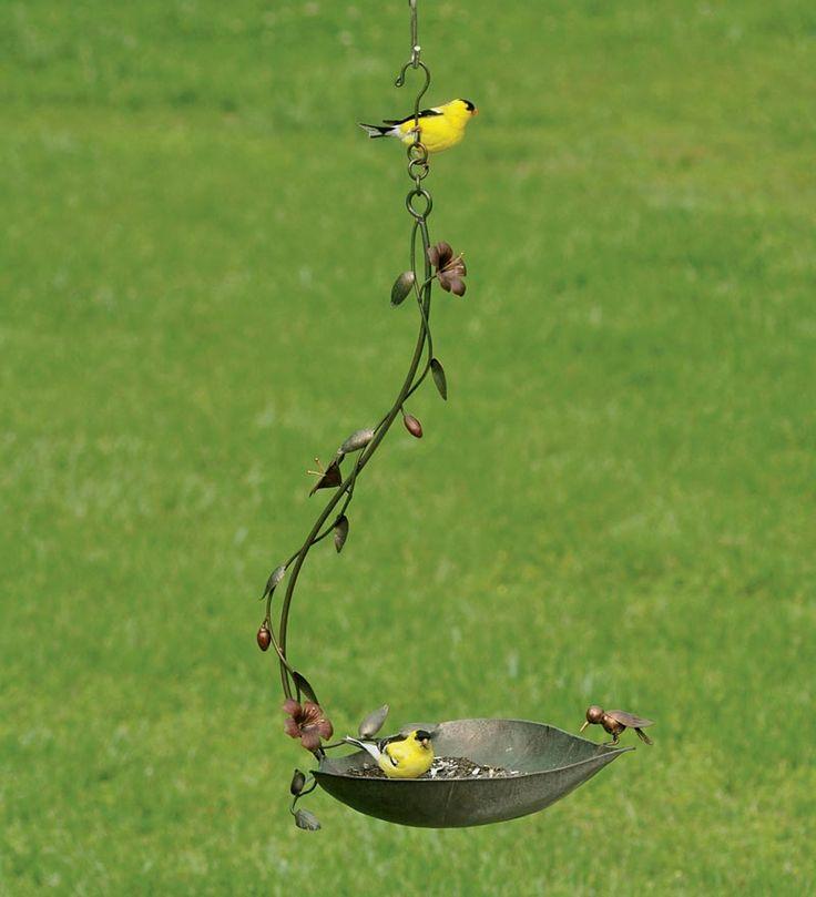 Handmade Metal Leaf Bird Feeder/Birdbath