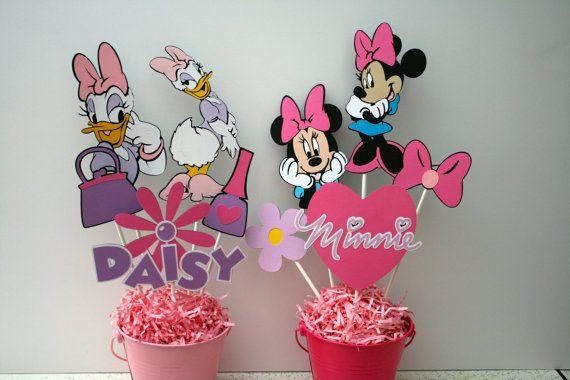 Hey, I found this really awesome Etsy listing at https://www.etsy.com/listing/253300000/minnie-mouse-and-daisy-duck-centerpieces