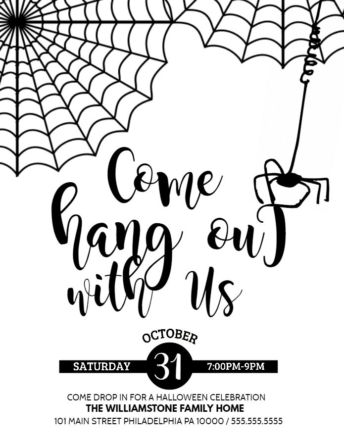 63 best halloween party flyer templates images on for Party wall letter template