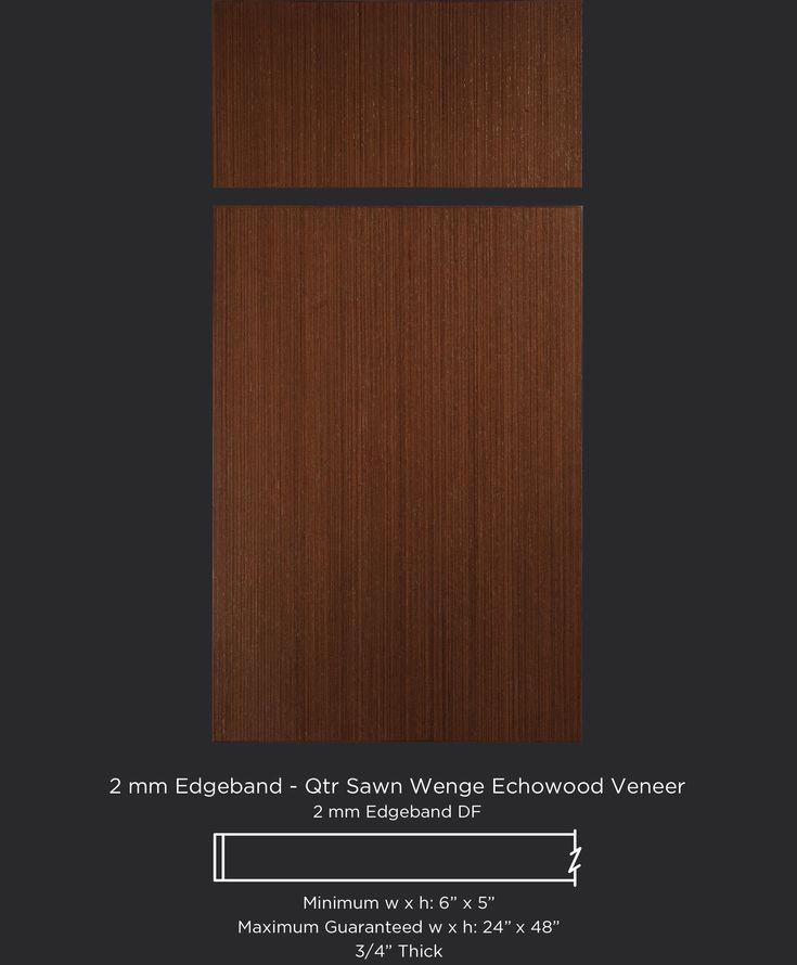 Modern Wenge Echowood veneer cabinet door by TaylorCraft Cabinet Door Company