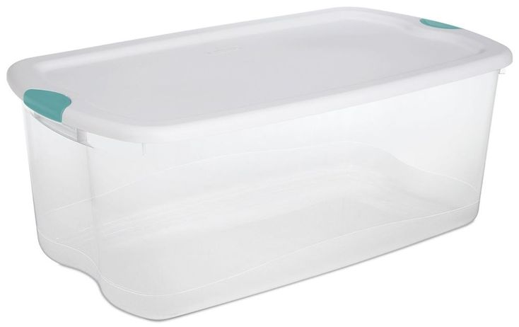 Large Big Sterilite Plastic 66 Qt Quart Clear Storage Box