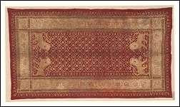 Rarissimo esemplare di antico tessuto indiano della fine del XIX secolo Antiquariato su Arsantik