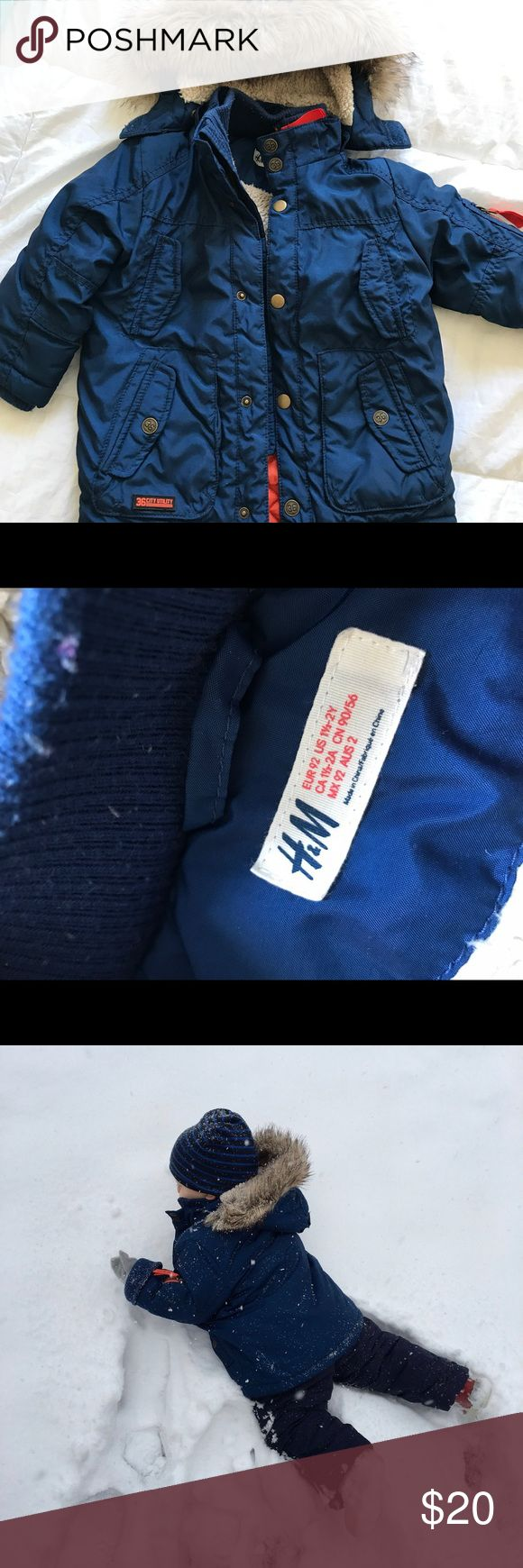 H&M toddler boys winter coat This coat is amazing- super warm and durable and stylish!!! We used it all last winter and it's still in very good condition. Fit is TTS in our experience. H&M Jackets & Coats