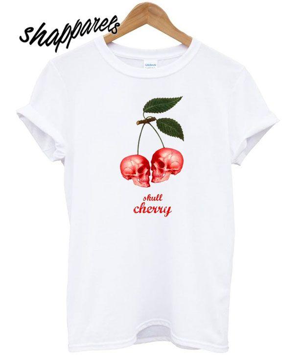 Cherry skull T shirt en 2018  3182d386dbf23