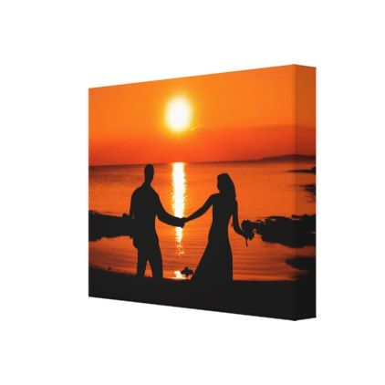 Honeymoon sunset canvas print - honeymoon gifts giftidea ideas wedding