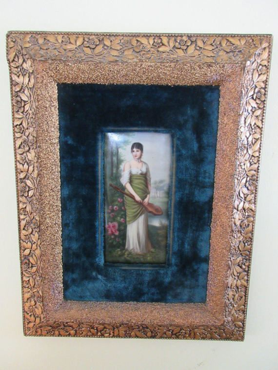 Antique Framed Portrait  Victorian Portrait on by AndOnToWillow