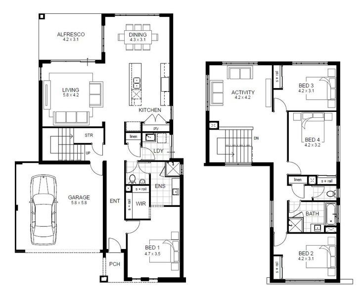 17 Best Ideas About Double Storey House Plans On Pinterest Modern Floor Plans Two Storey