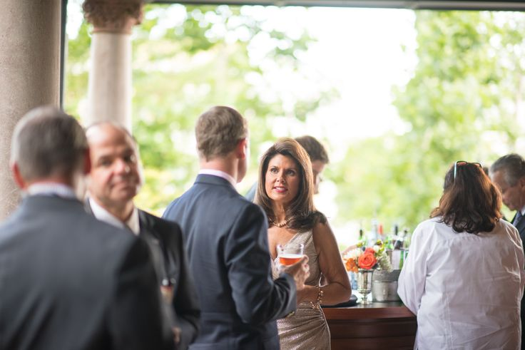 Start your event with cocktails on the veranda and in the beautiful garden at the McCune Mansion