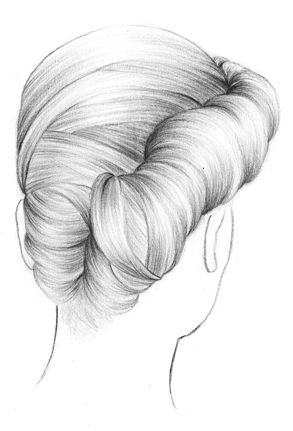Hairstyle Illustration Sketches Beautiful Beautiful Hairstyle Illustration Sketches Hair Sketch Long Hair Drawing Hair Art