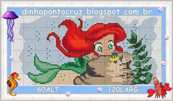 Disney Ariel pattern by Dinha Ponto Cruz