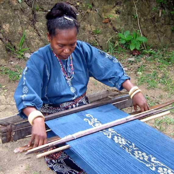 Indonesian traditional weaver