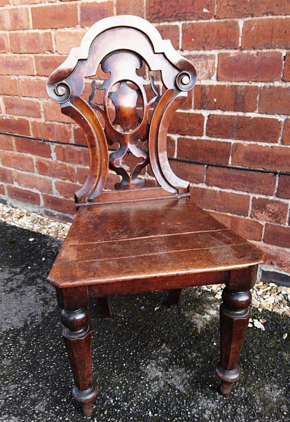 Beautiful carved mahogany Victorian hall chair, antique home furniture, antique  chairs Furniture Websites, - Beautiful Carved Mahogany Victorian Hall Chair, Antique Home