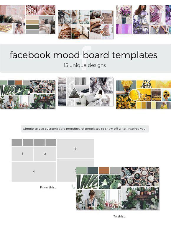 Facebook Mood Board Templates Mood Board Template Facebook Design Mood Board