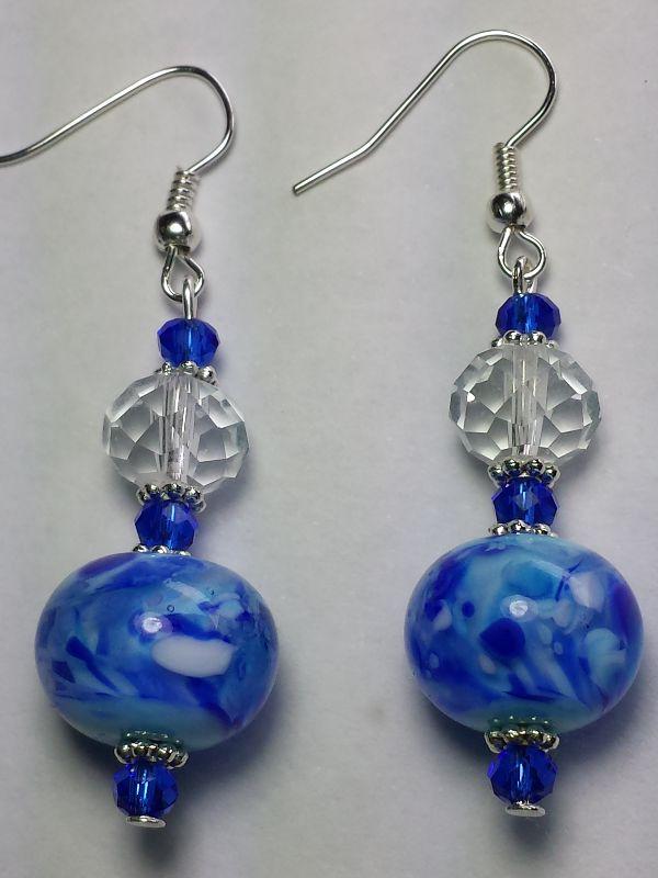 Glass swirl earrings AU$18