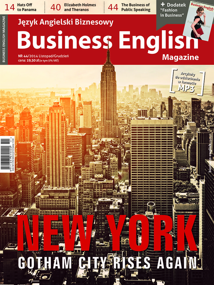 New York skyline on cover of Business English Magazine 44.