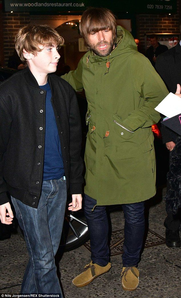 Father figure: Usually on the stage, Liam Gallagher enjoyed a bit of role reversal when he...