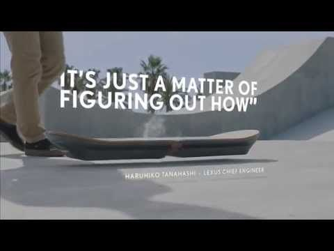 Grappig die rook erbij. #innovatie LEXUS teases its own tangible hoverboard prototype 'slide'