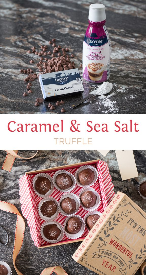 Caramel & Sea Salt Truffles - An EASY holiday gift using just ...