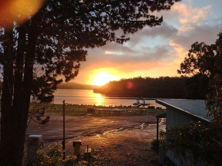 Sunrise over the Walpole Inlet. Walpole WA. Today.