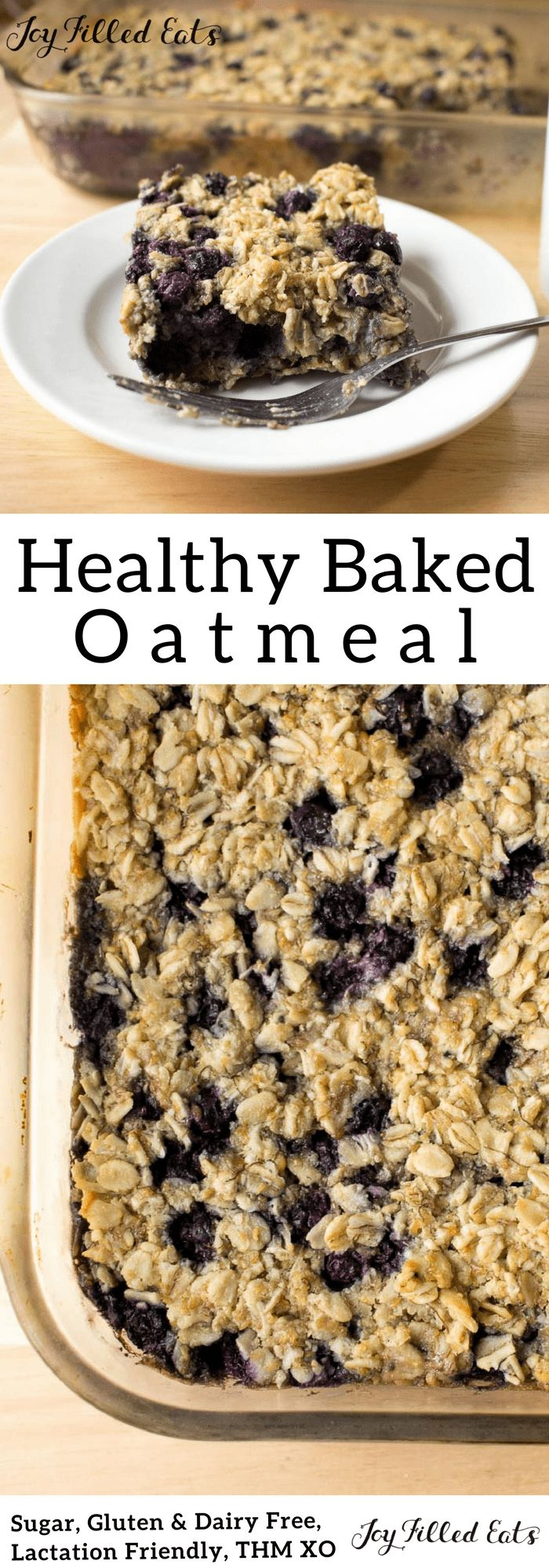 My Healthy Baked Oatmeal is perfect for breastfeeding mamas & everyone else. It is gluten-free, dairy-free, sugar-free, & Trim Healthy Mama friendly.