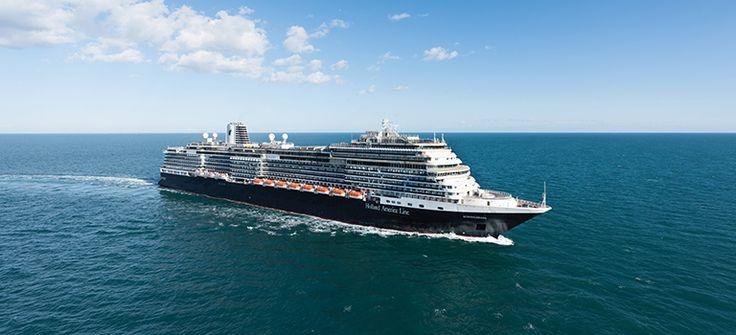 Holland America Line cruise ship the ms Koningdam at sea