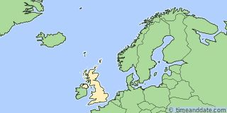 Map showing the location of Aberdeen. Click map to see the location on our worldwide Time Zone Map.
