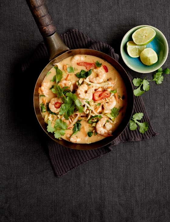 Prawn and coconut soup