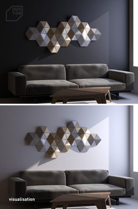 CELL 12 pcs. wall sculpture Decor Pattern Geometric