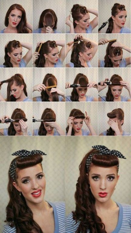 64 Ideas For Hair Tutorial Vintage Make Up