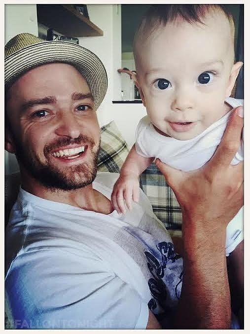 Justin Timberlake shared a hilariously cute photo of himself with his baby son.