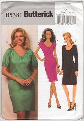 Butterick B5381 Dress AA Size 6 8 10 12 Uncut Sewing Pattern