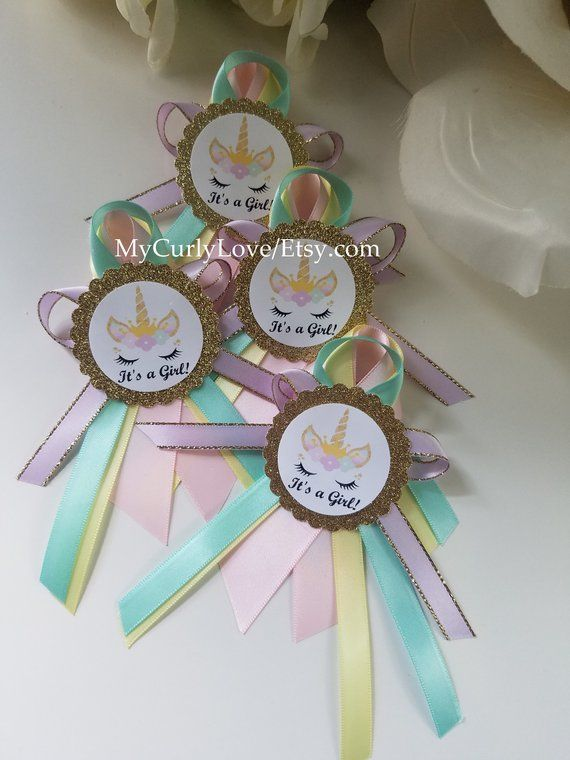 Unicorn Baby Shower Mommy To Be Corsage Unicorn Baby Shower