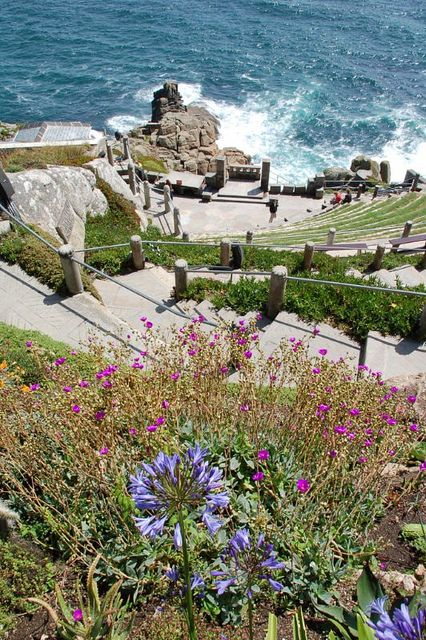 The amazing Minack Theatre, set beside the sea and part of Tintagel Castle, Cornwall, home of the leged of King Arthur. Must go!