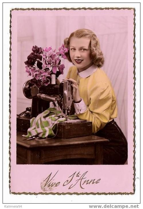 17 best images about vintage sewing postcard on pinterest for Machine a coudre 1950