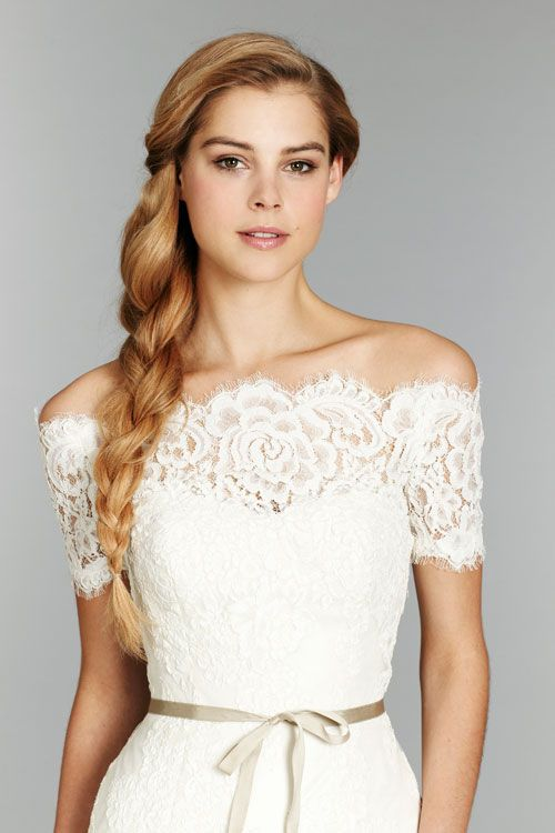hayley paige lace detachable off the shoulder bolero comes with this dress can it